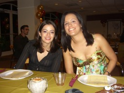 Yaima Alonso and Claudia Brea at the first FBAA Winter Dinner 2007.